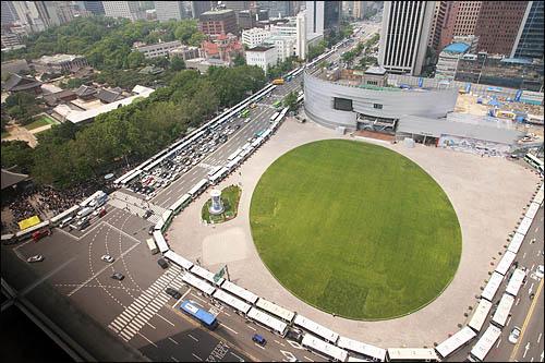 분향통제 서울광장